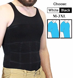 Insta Trim Men�s Compression and Body-Support Undershirt - #7104