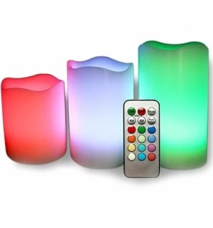 Remote Controlled Flameless Color Changing Candles - #7109