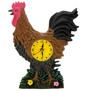 Rooster Wall Clock w/Sound - #7126