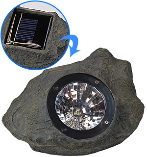 Solar Rock LED Garden and Pathway Light - #7133