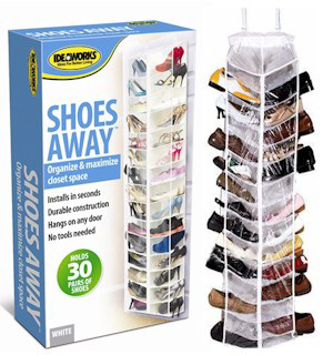 Shoes Away - Hanging Shoe and Closet Organizer - #7189