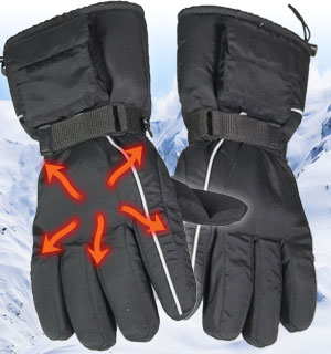 Battery Operated Heated Gloves - Unisex - #7198