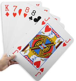 "Super Jumbo Playing Cards (8"" x 11"" cards) - #7214"
