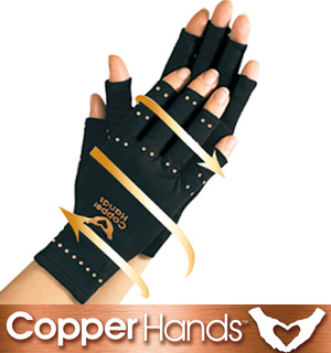 Copper Hands Compression Gloves - #7249