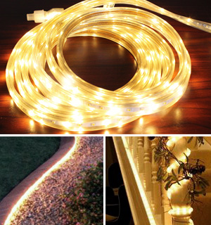 20ft Indoor/Outdoor Streaming LED Tape Lights (Warm White) - #7253
