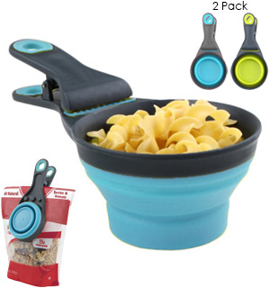 Kitchen Rite Food Clip w/ Measuring Cup 2-Pack - #7258