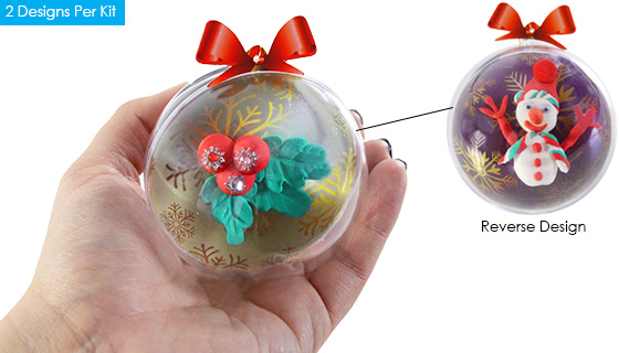 Fun-Doh Craft Ornament Kit - Choose Single or 6-Pack