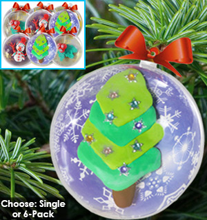 Fun-Doh Craft Ornament Kit - Choose Single or 6-Pack - #7272
