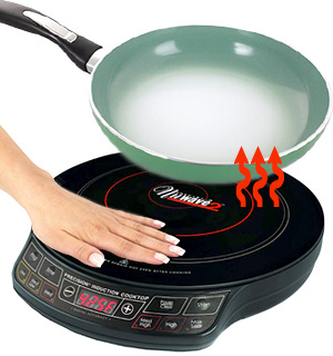 NuWave Precision Induction Cooktop with Color Changing Fry Pan - #7277