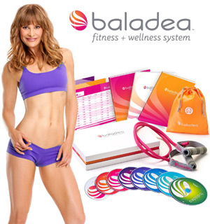 baladea Fitness and Wellness System includes 8 Workout DVDs - #7286