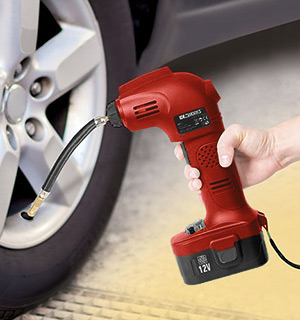 Cordless Tire Inflator - Rechargeable 12V Hand-Held Air Pump - #7425