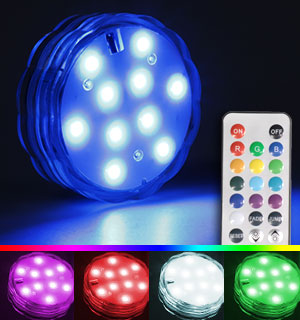 Waterproof Color-Changing Light with Remote Control - #7447