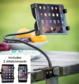 Clip-On Tablet and Smartphone Mount - #7448