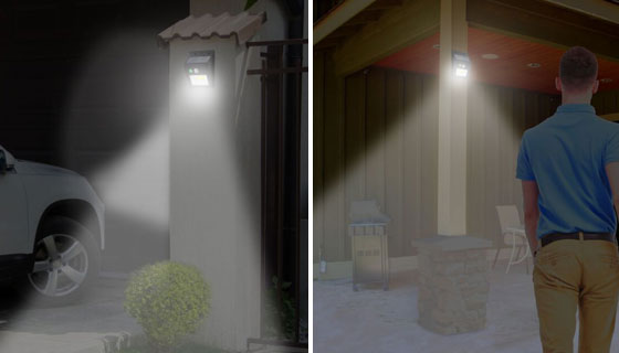 Solar-Powered Night Beam Outdoor Security Light