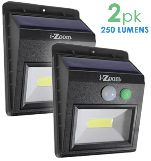 Solar-Powered Night Beam Outdoor Security Light 2pk - #7507A