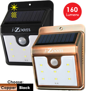 Solar-Powered Outdoor Security Light - #7507B