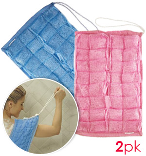 Easy Reach Loofa Cloth 2-Pack - CLEARANCE PRICING - #7556