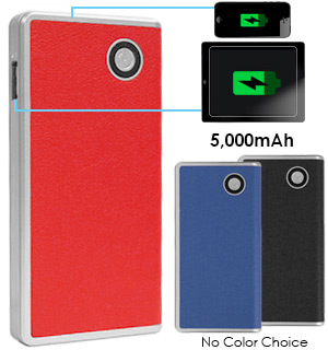 Portable Leatherette Power Cell - 5000 mAh - #7573