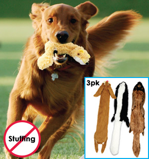 Crazy Critter Dog Toy 3-Pack - #7576A
