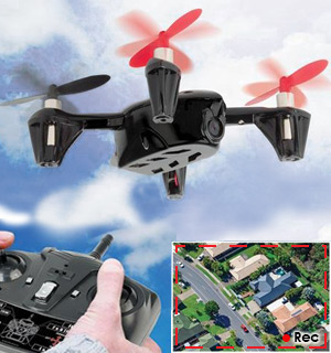 Black Falcon Spy Drone with HD Camera - #7577