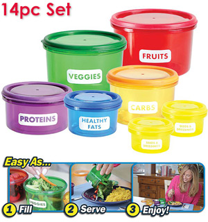 Portion Control Container Set - #7598