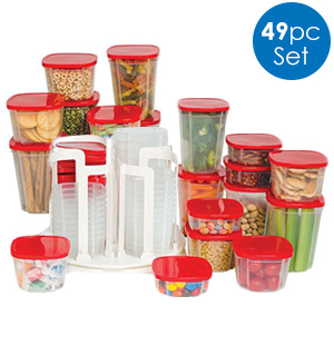 Swirl Around Carousel with Food Containers - #7603