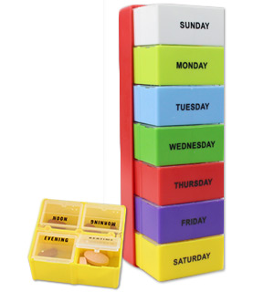 Pill Organizer with Tray - #7617