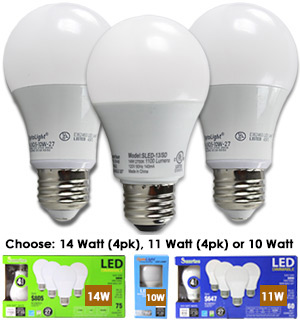 Dimmable Standard LED Light Bulbs - #7626