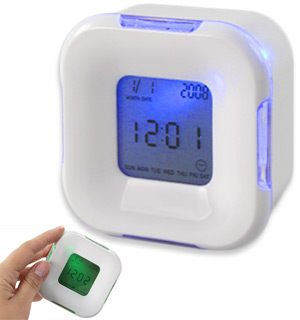 Multi-Function 4-Sided Alarm Clock - #7639