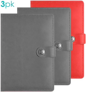 Debossed Soft Leatherette Journal Pack Of 3 - #7642A