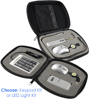 Tripp-Lite 3pc Laptop Accessory Kits with Zippered Hard Case - #7655