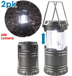 2-Pack of the SWAT Tactical Collapsible Lantern - Brightness You Can See A Mile Away - #7658A