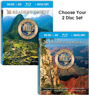 Reader's Digest: Scenic Walks Around The World Blu-Ray + DVD Comb… - #7683