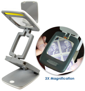 Foldable Desk Lamp and Magnifier (Pocket Sized) - #7687