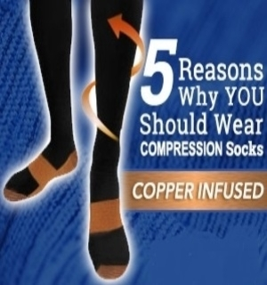 6-Pair Copper Infused <br />Compression Support Socks
