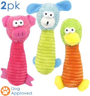 "11"" Plush Pet Toys 2-Piece - #7696A"