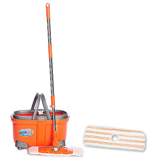 Hurricane Woodwiz Mop w/ 6 qt Bucket & Extra Mop Head - #7735