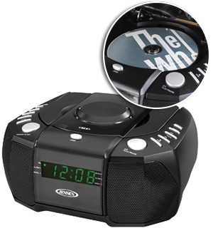 jensen digital am fm stereo alarm clock radio with cd player pulsetv. Black Bedroom Furniture Sets. Home Design Ideas