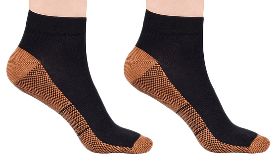 Copper Infused Compression Ankle Socks - 3 Pairs