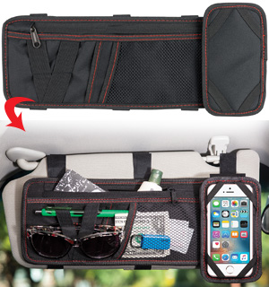 Visor Organizer with Hands-Free Phone Holder by Soundlogic - #7760