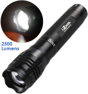 2500 Lumen i-Zoom Flashlight - #7764