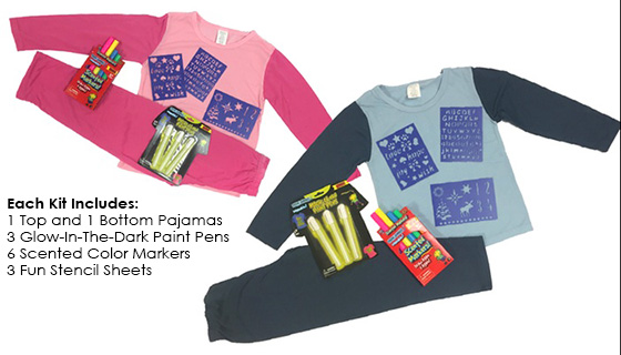 Draw Jammies - PJ's you can draw on again and again