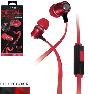 Metal Pro Earbuds Kit with Built-In Mic by Hype - #7767
