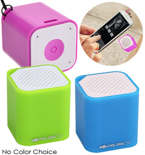SoundLogic XT Portable BLUETOOTH<sup>&reg;</sup> Mini Cube Speaker and Selfie Remote - #7771