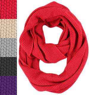 Woven Infinity Scarf - #7773