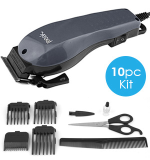 Barber Set - Complete 10 Piece Hair Cutting Kit - #7774