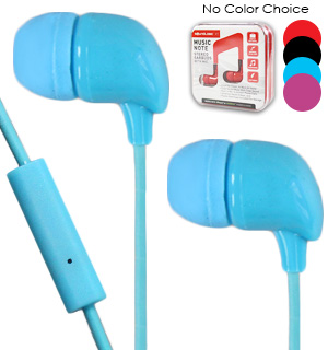 Music Note Stereo Earbuds with Mic - #7776