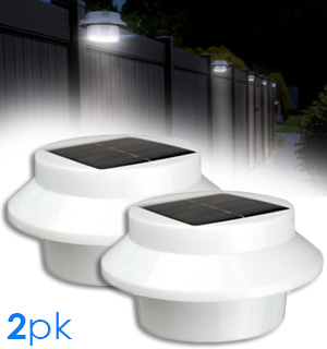 Outdoor Solar Powered Safety Lights - Set of 2 - #7778