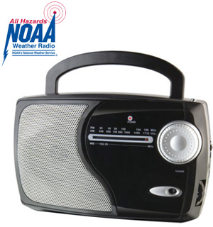NOAA Weather and AM/FM Radio by WeatherX (Refurbished) - #7794