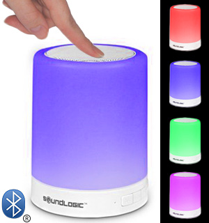 Bluetooth Touchlight Color-Changing LED Speaker by SoundLogic XT - #7795